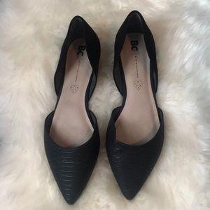 Like New! Super cute black flats